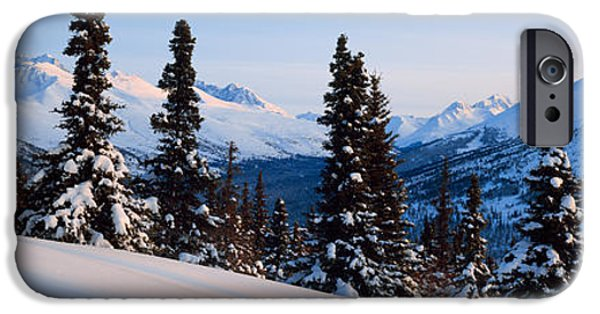 Snowy Day iPhone Cases - Winter Chugach Mountains Ak iPhone Case by Panoramic Images