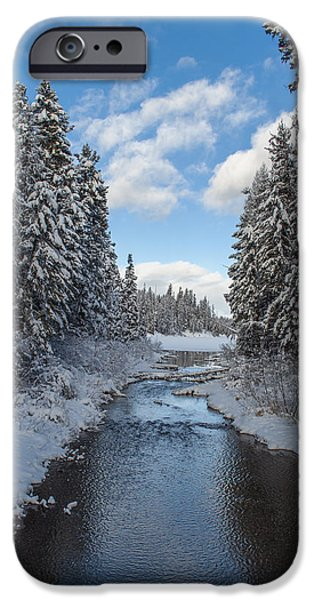 Daysray Photography iPhone Cases - Winter Creek iPhone Case by Fran Riley