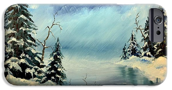Storm Prints Pastels iPhone Cases - Winter Creek iPhone Case by Royce Van Over