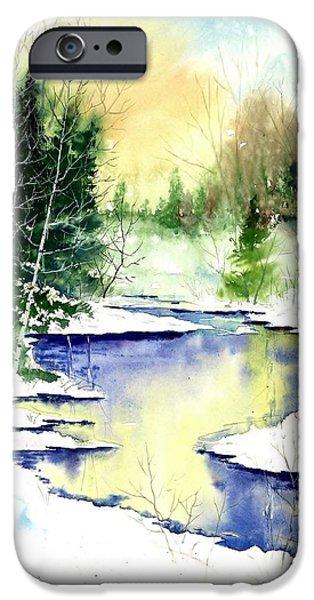 Award Winning Art iPhone Cases - Winter Creek iPhone Case by Steven Schultz