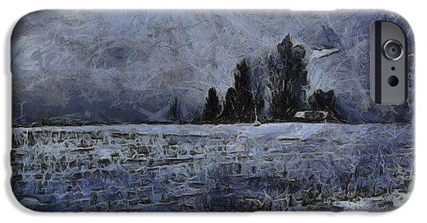 Winter Storm iPhone Cases - Winter Day iPhone Case by Dan Sproul