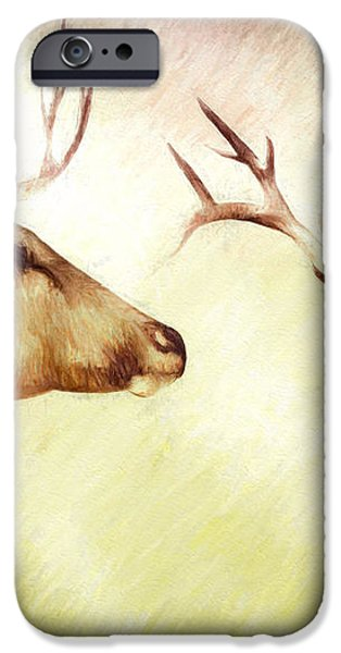 Winter Deer iPhone Case by Bob Orsillo