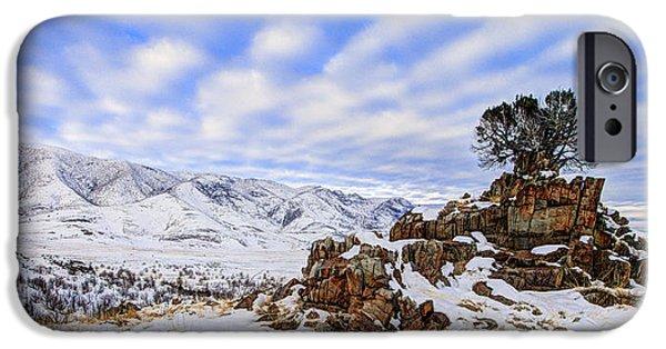 Utah iPhone Cases - Winter Desert iPhone Case by Chad Dutson