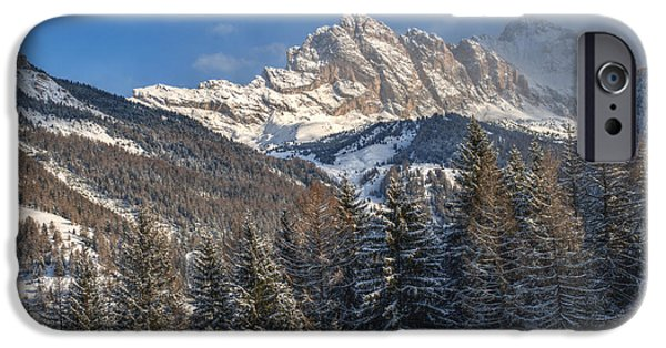 Winter Scenery iPhone Cases - Winter Dolomites iPhone Case by Martin Capek