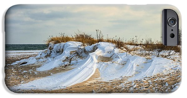 Snowy Day iPhone Cases - Winter dune iPhone Case by Jan Sieminski
