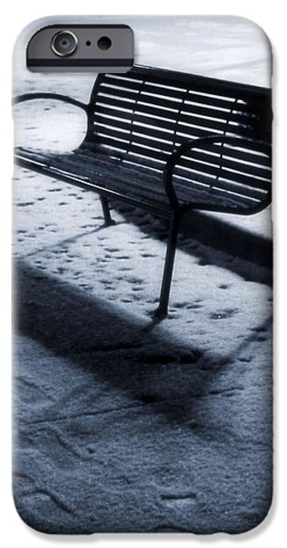 Comfortable Art iPhone Cases - Winter Evening Downtown iPhone Case by Dan Sproul