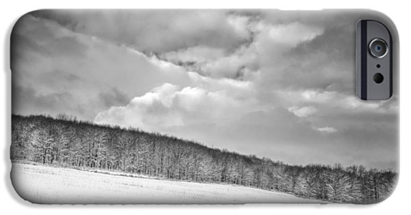 Snowy Day iPhone Cases - Winter Expanse iPhone Case by Chris Bordeleau