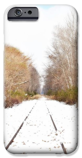 Old Digital Art iPhone Cases - Winter Express iPhone Case by Valerie Giovannucci