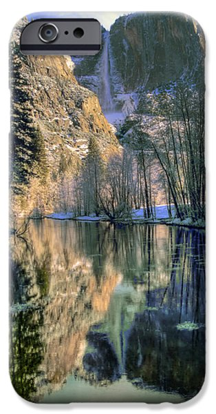 Bill Gallagher iPhone Cases - Winter Falls iPhone Case by Bill Gallagher