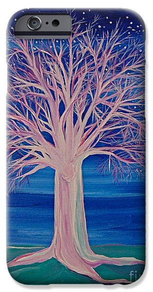 Jrr iPhone Cases - Winter Fantasy Tree iPhone Case by First Star Art