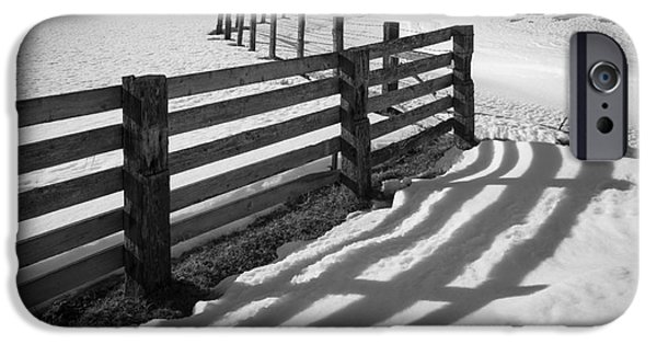 Agricultural iPhone Cases - Winter Fence iPhone Case by Inge Johnsson