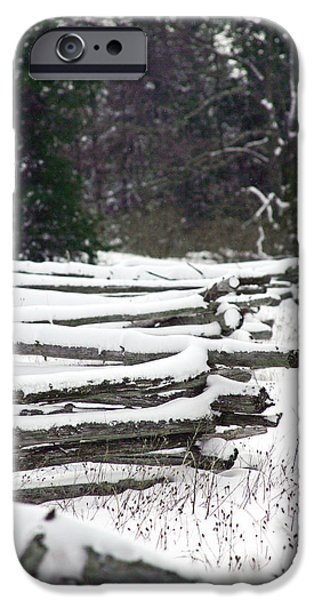 Winter Fence iPhone Case by Ty Helbach