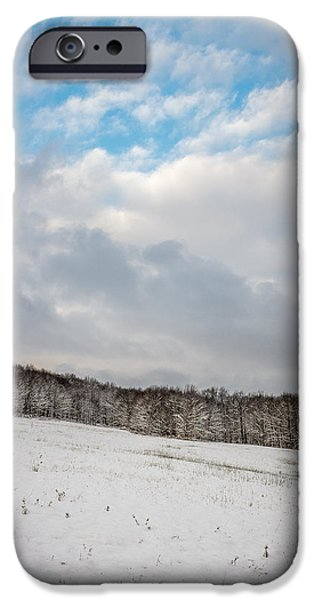Snowy Day iPhone Cases - Winter field iPhone Case by Chris Bordeleau