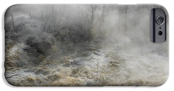 Concord. Winter iPhone Cases - Winter Fog And Flood iPhone Case by Paddy Shaffer