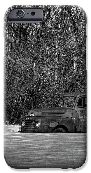 Winter Ford Truck 1 iPhone Case by Thomas Young