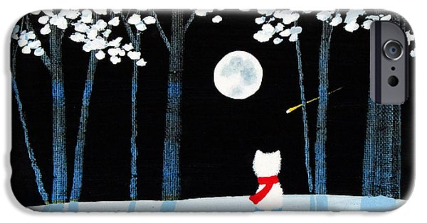 Recently Sold -  - Snowy Night iPhone Cases - Winter Forest iPhone Case by Todd Young