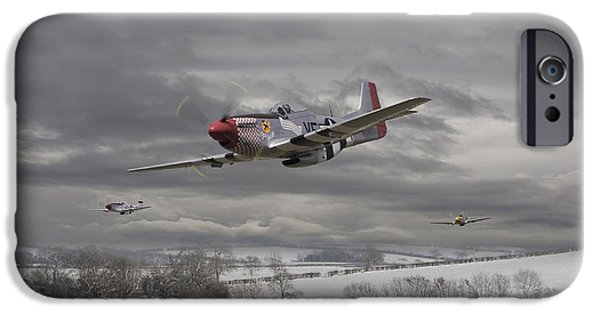 Classic Aircraft iPhone Cases - Winter Freedom iPhone Case by Pat Speirs