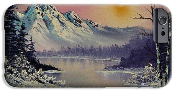 Recently Sold -  - Bob Ross Paintings iPhone Cases - Morning Frost iPhone Case by C Steele