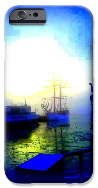 Winter harbour iPhone Case by Hilde Widerberg