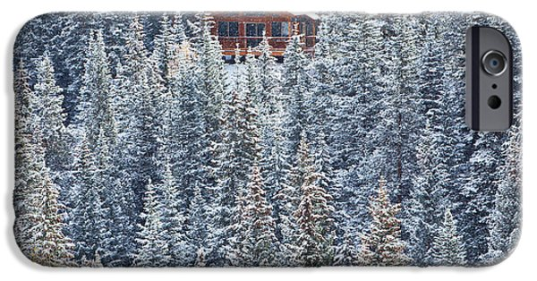Winter Scene iPhone Cases - Winter Hideaway iPhone Case by Darren  White