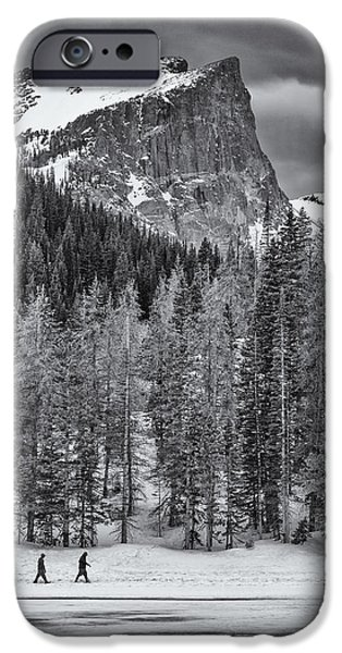 Winter Scene iPhone Cases - Winter Hike iPhone Case by Darren  White