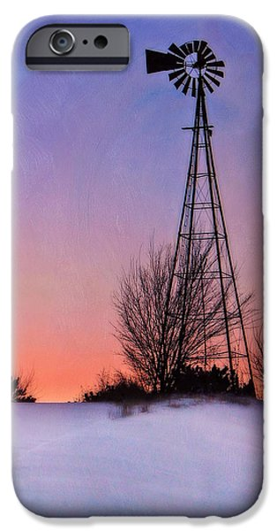 Nebraska iPhone Cases - Winter Hill - Evening iPhone Case by Nikolyn McDonald