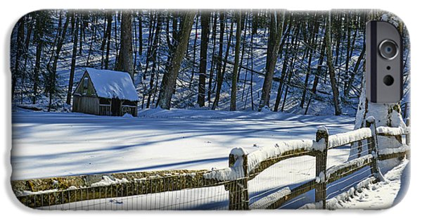 Grist Mill iPhone Cases - Winter Hut iPhone Case by Paul Ward