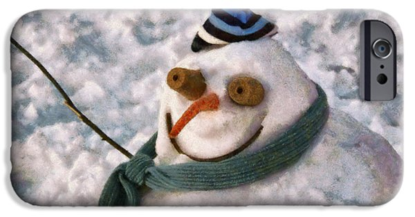Wintertime iPhone Cases - Winter - Im ready for my closeup iPhone Case by Mike Savad