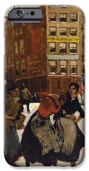 Winter in Amsterdam iPhone Case by Georg Hendrik Breitner