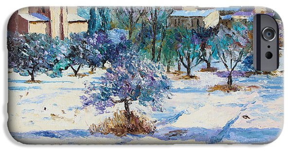 Provence Village iPhone Cases - Winter in Lourmarin iPhone Case by Jean-Marc Janiaczyk