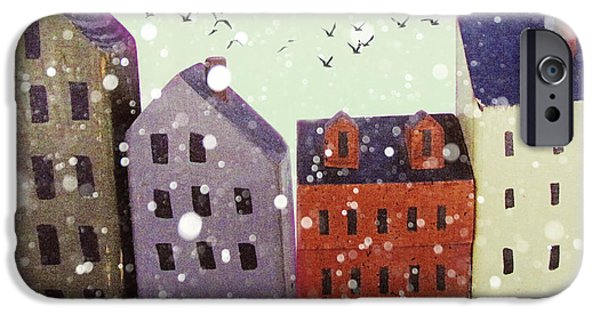 Rust iPhone Cases - Winter in Nantucket iPhone Case by Amy Tyler