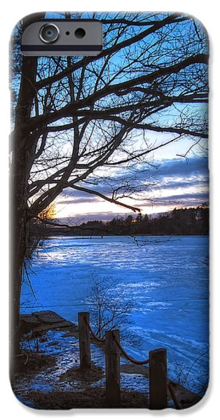 New England Snow Scene iPhone Cases - Winter in New Hampshire iPhone Case by Joann Vitali