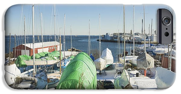 East Village iPhone Cases - Winter in Rockland Maine iPhone Case by Keith Webber Jr