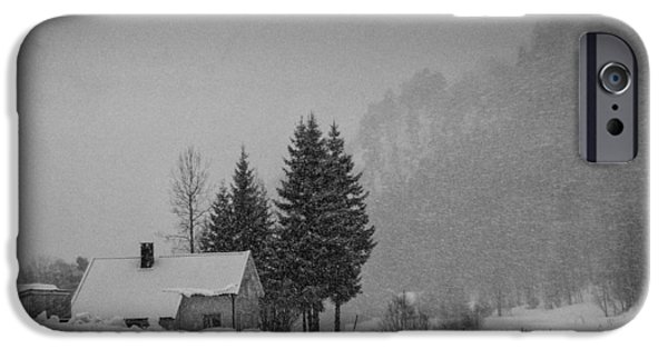 Mandal iPhone Cases - Winter in the countryside iPhone Case by Mirra Photography