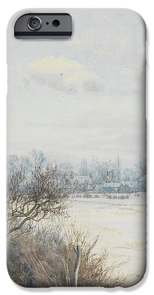 Winter in the Ouse Valley iPhone Case by William Fraser Garden
