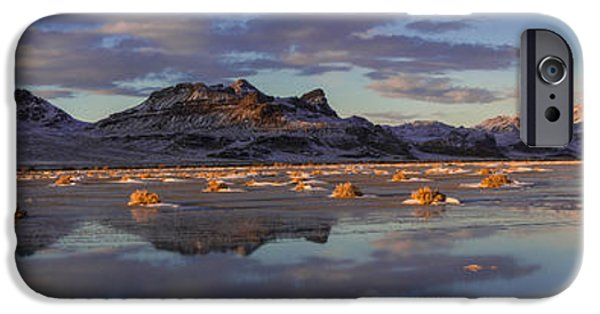 Yellow iPhone Cases - Winter in the Salt Flats iPhone Case by Chad Dutson