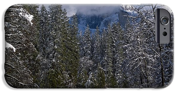 Bill Gallagher iPhone Cases - Winter in the Valley iPhone Case by Bill Gallagher