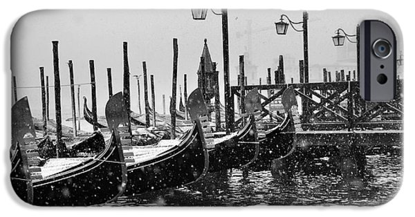Venice iPhone Cases - Winter in Venice iPhone Case by Yuri Santin