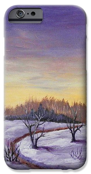 Winter in Vermont iPhone Case by Anastasiya Malakhova