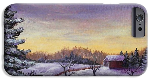 Calm iPhone Cases - Winter in Vermont iPhone Case by Anastasiya Malakhova