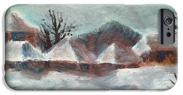Recently Sold -  - Village iPhone Cases - Winter in Village iPhone Case by Georgescu George