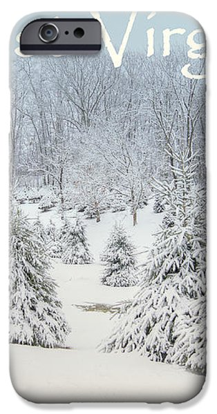 Winter in West Virginia iPhone Case by Benanne Stiens