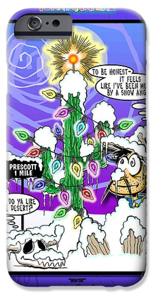 Prescott Mixed Media iPhone Cases - Winter iPhone Case by Joe King