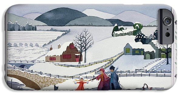 Rural iPhone Cases - Winter iPhone Case by Julia Rowntree