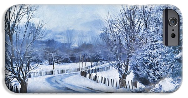 Winter Scene iPhone Cases - Winter iPhone Case by Kathy Jennings