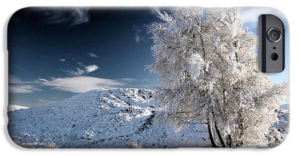 Snow Scene iPhone Cases - Winter Landscape iPhone Case by Grant Glendinning