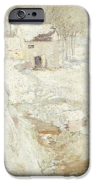 Winter Landscape iPhone Case by John Henry Twachtman