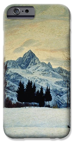 Twentieth Century iPhone Cases - Winter Landscape iPhone Case by Matteo Olivero