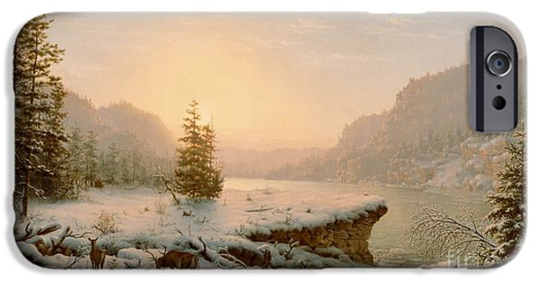 Spectacular iPhone Cases - Winter Landscape iPhone Case by Mortimer L Smith