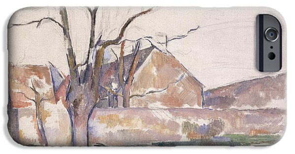 Snowy Day iPhone Cases - Winter Landscape iPhone Case by Paul Cezanne